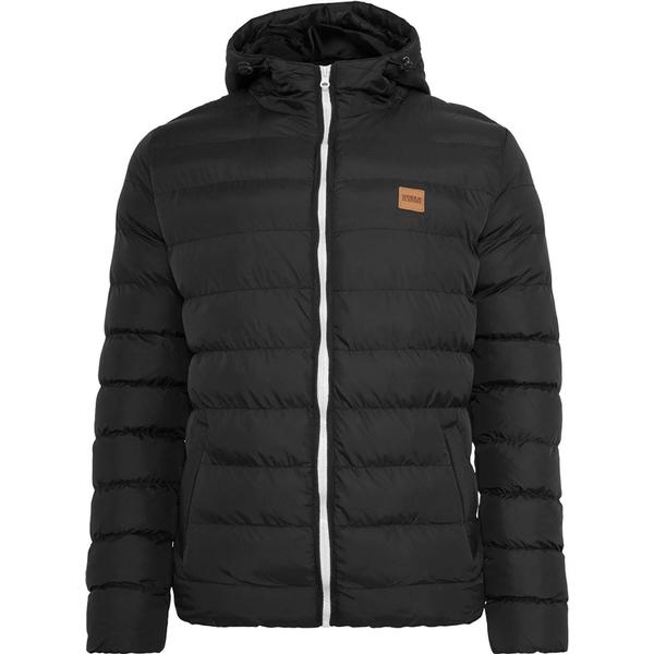Urban Classics Basic Bubble Jacket - Blackwhiteblack