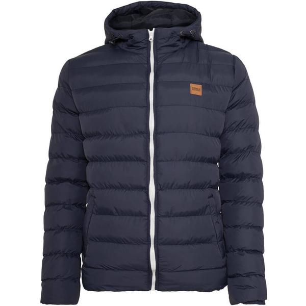 Urban Classics Basic Bubble Jacket - Navy/White/Navy