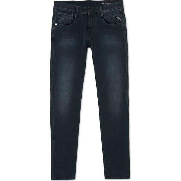 Replay Slim Fit Hyperflex+Anbass Jeans - Dark Blue