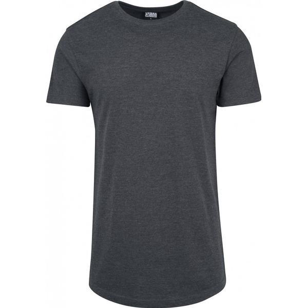 Urban Classics Shaped Melange Long Tee - Charcoal