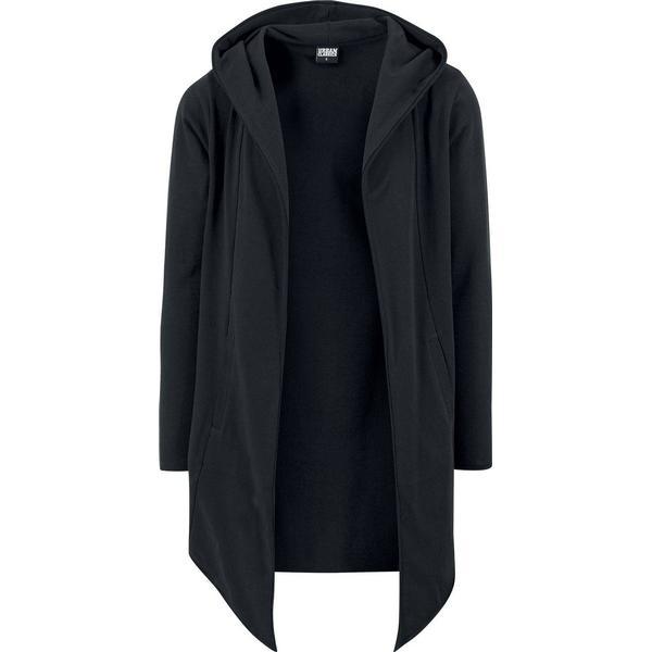 Urban Classics Long Hooded Open Edge Cardigan - Black
