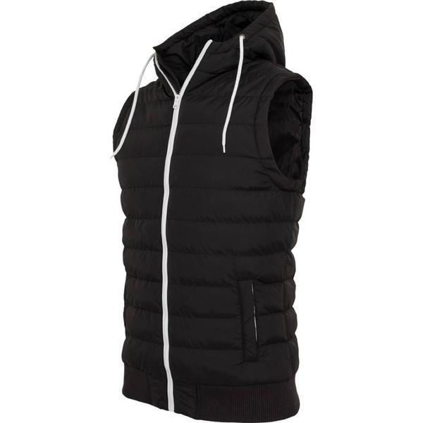 Urban Classics Small Bubble Hooded Vest - Blk/Wht