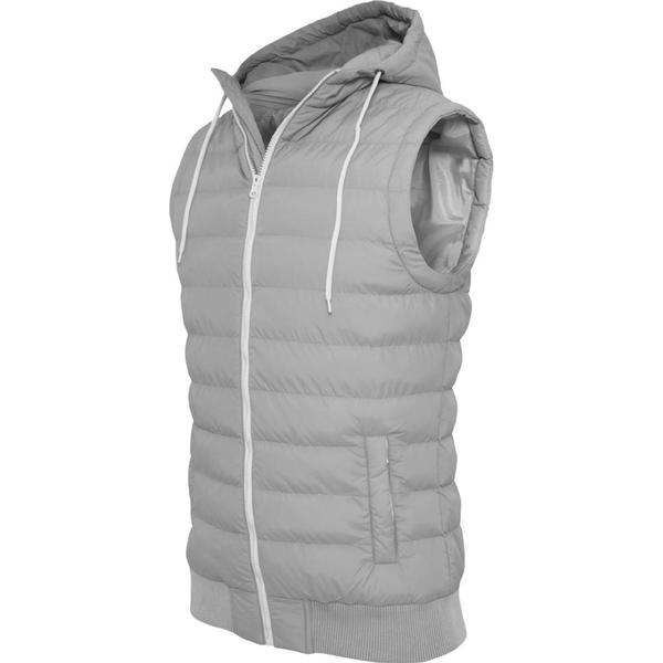 Urban Classics Small Bubble Hooded Vest - Gry/Wht