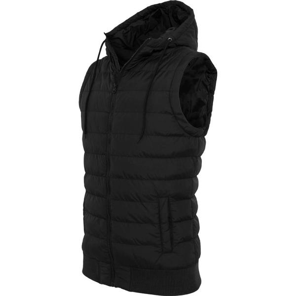 Urban Classics Small Bubble Hooded Vest - Blk/Blk
