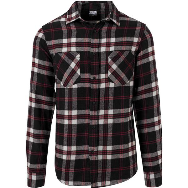 Urban Classics Checked Flanell Shirt 3 - Black/White/Red
