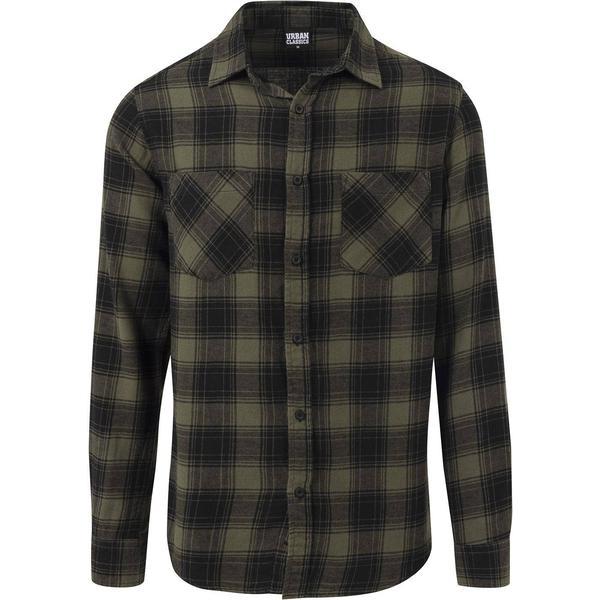 Urban Classics Checked Flanell Shirt 3 - Black/Olive