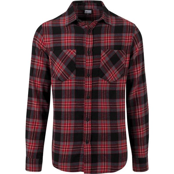 Urban Classics Checked Flanell Shirt 3 - Black/Grey/Red