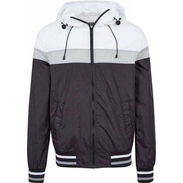 Urban Classics College Windrunner - Blk/Wht/Gry