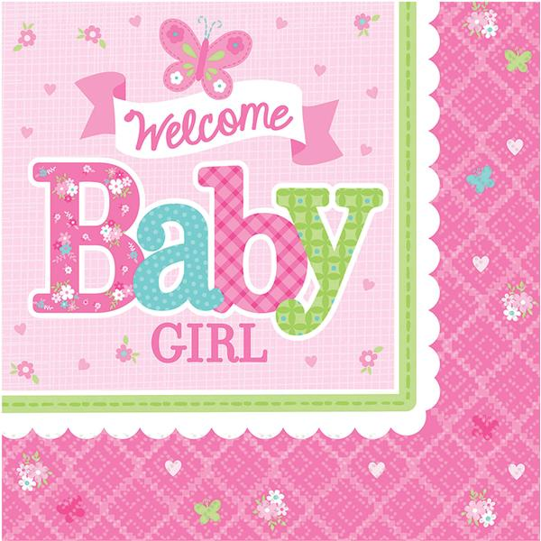 Amscan Welcome Baby Girl Luncheon (511458)