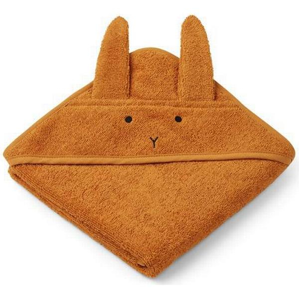 Liewood Albert Hooded Baby Towel Rabbit Mustard