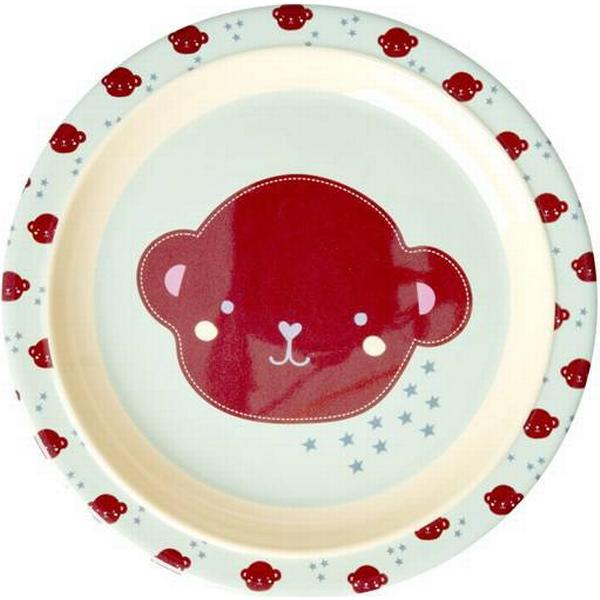 Rice Melamine Kids Lunch Plate Monkey Print