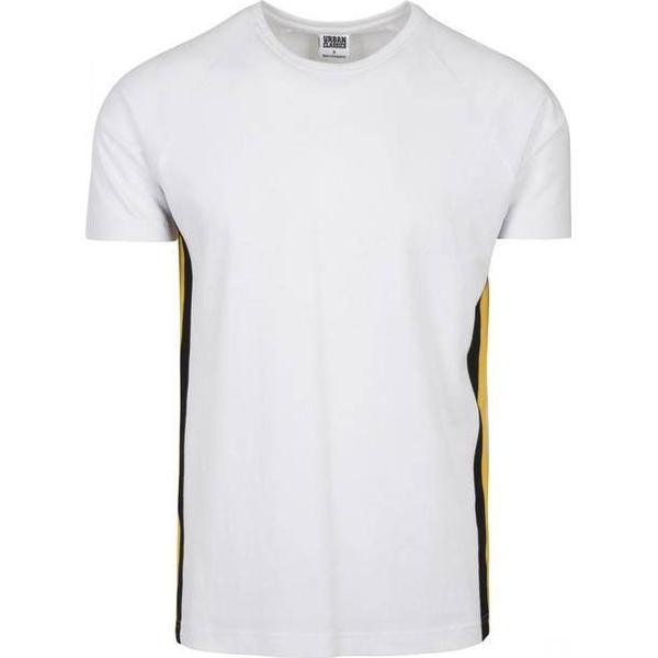 Urban Classics Raglan Side Stripe Tee - White/Black/Yellow