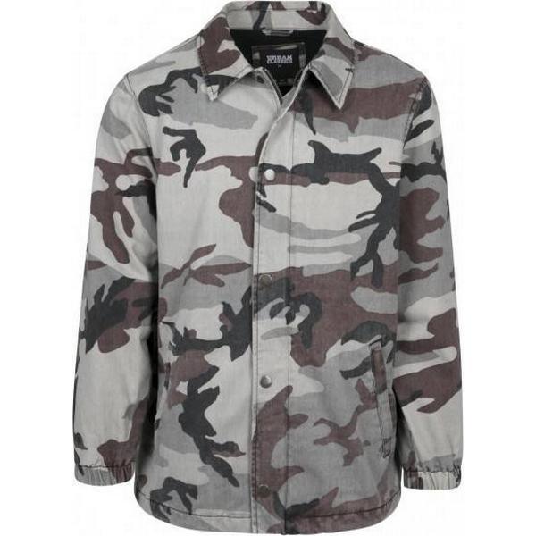 Urban Classics Camo Cotton Coach Jacket - Grey Camo