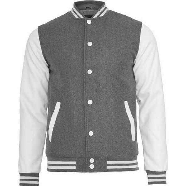 Urban Classics Old School College Jacket - Grey/White