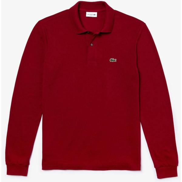 Lacoste L.12.12 Long Sleeve Polo Shirt - Bordeaux