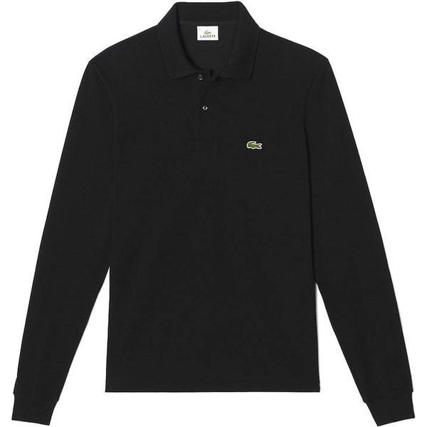 Lacoste L.12.12 Long Sleeve Polo Shirt - Black