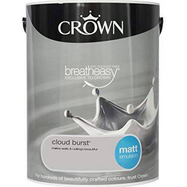 Crown Matt Emulsion Wall Paint, Ceiling Paint Grey 5L