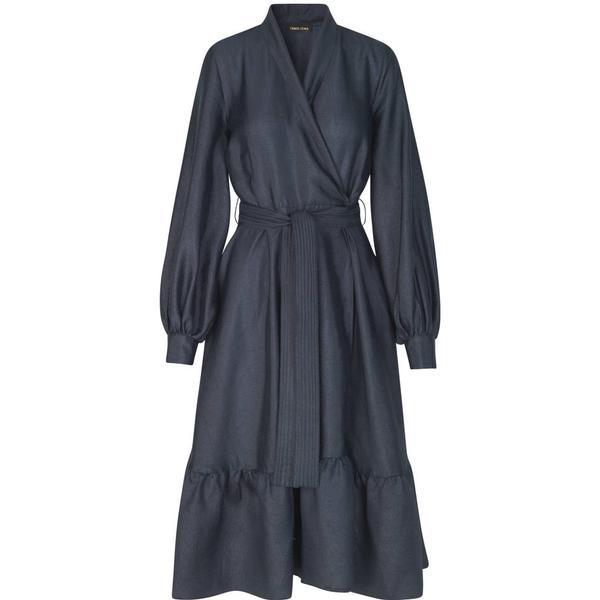 Stine Goya Niki Wrap Dress - Midnight