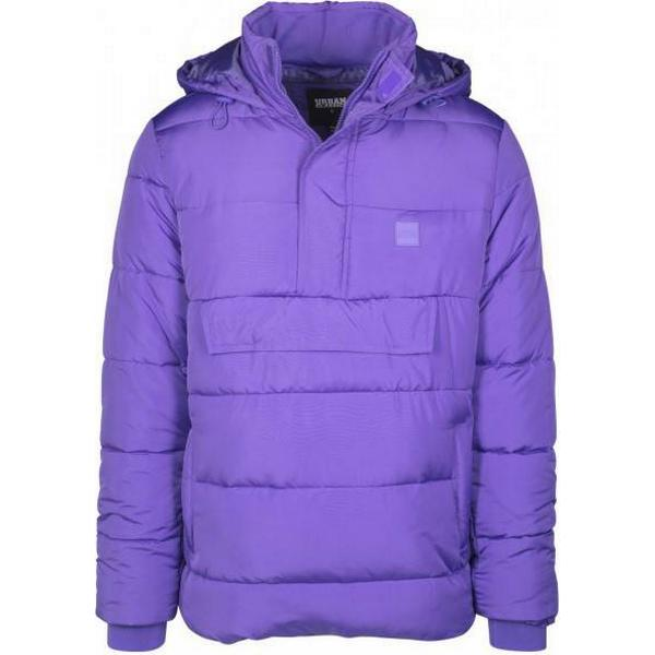Urban Classics Pull Over Puffer Jacket - Ultraviolet