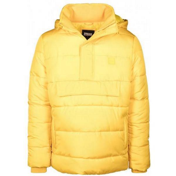 Urban Classics Pull Over Puffer Jacket - Chrome Yellow