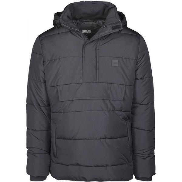 Urban Classics Pull Over Puffer Jacket - Black