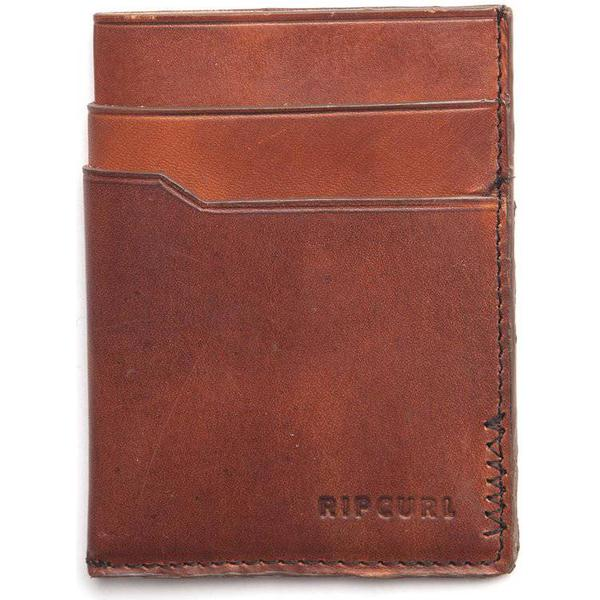 Rip Curl Handcrafted Slim Card Wallet - Brown (BWLKW1)