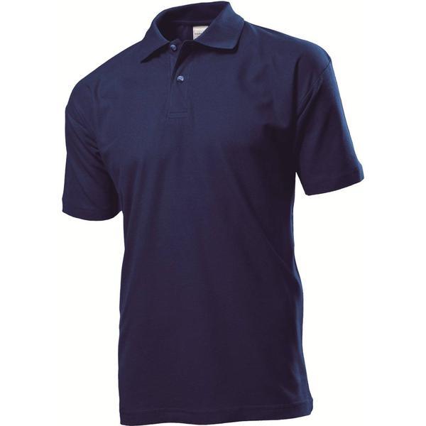 Stedman Short Sleeve Polo Shirt - Navy Blue