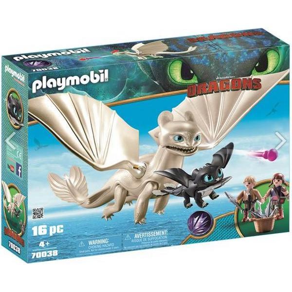 Playmobil Light Fury with Baby Dragon & Children 70038