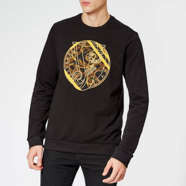 Versace Jeans Circle Logo Sweatshirt - Black