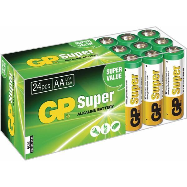 GP Batteries AA Super Alkaline Compatible 24-pack