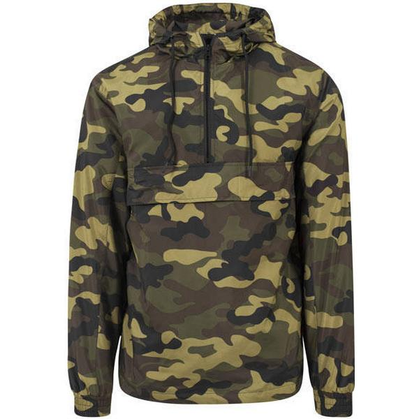 Urban Classics Camo Pull Over Windbreaker - Woodcamo