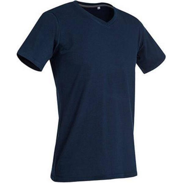 Stedman Clive V Neck T-shirts - Marina Blue