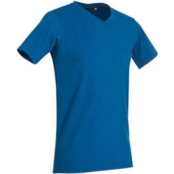 Stedman Clive V Neck T-shirts - King Blue