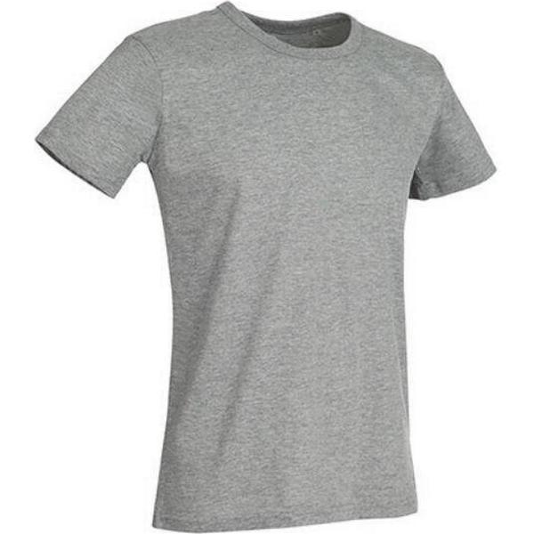 Stedman Ben Crew Neck T-shirts - Grey Heather