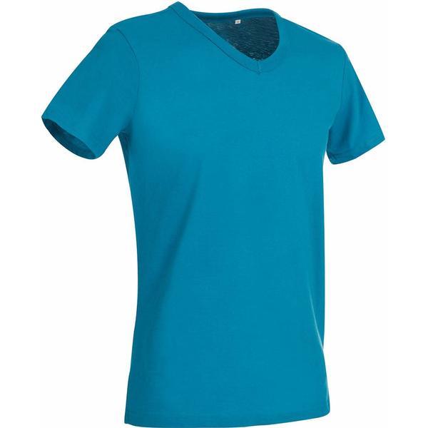 Stedman Ben V-Neck T-shirt - Hawaii Blue
