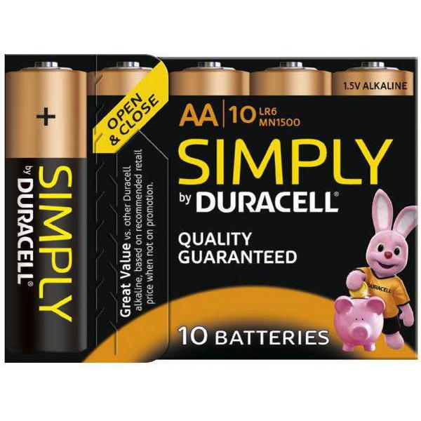 Duracell AA Simply Compatible 10-pack