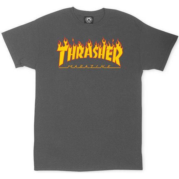Thrasher Magazine Flame Logo T-shirt - Charcoal