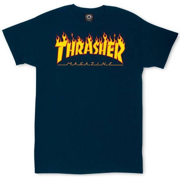 Thrasher Magazine Flame Logo T-shirt - Navy