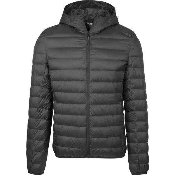 Urban Classics Basic Hooded Down Jacket - Black