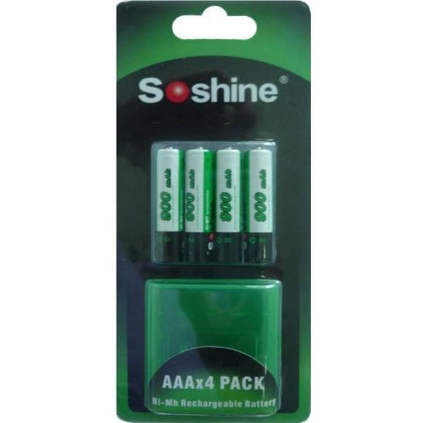 Soshine AAA 900mAh Compatible 4-pack