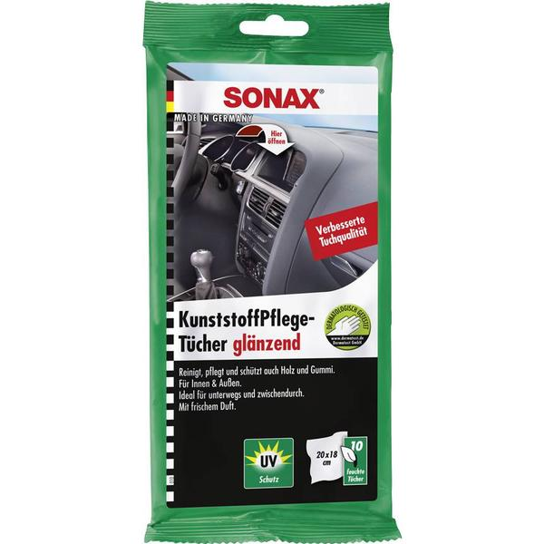 Sonax Plastic Care Wipes 10-pack