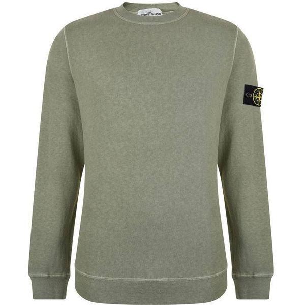 Stone Island Badge Sleeve Sweatshirt - Salvia V0155