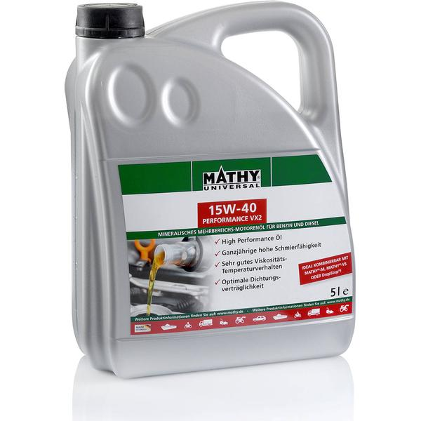 Mathy 15W-40 Performance VX2 5L Motor Oil
