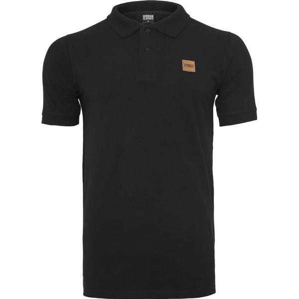 Urban Classics Heavy Polo Pique Shirt - Black