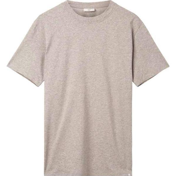 Minimum Aarhus Short Sleeved T-Shirt - Light Grey Melange