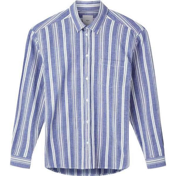 Minimum Folk Long Sleeved Shirt - Navy Blazer