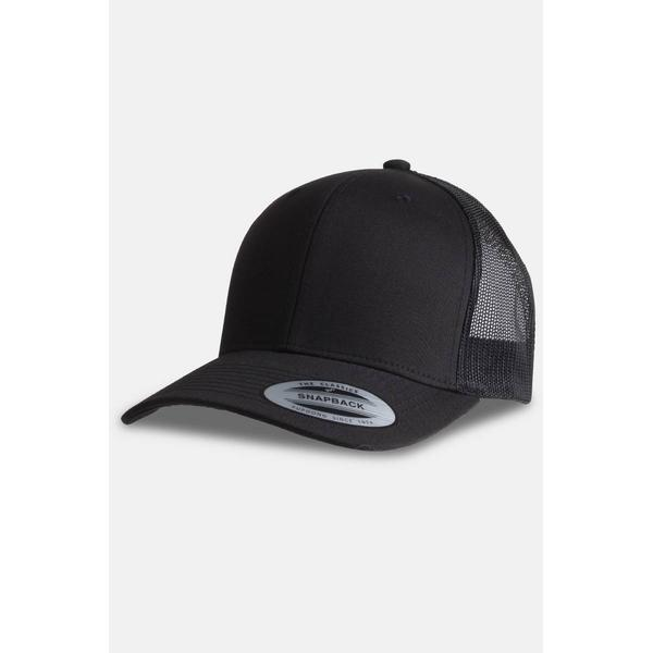 Flexfit Retro Trucker Cap - Black