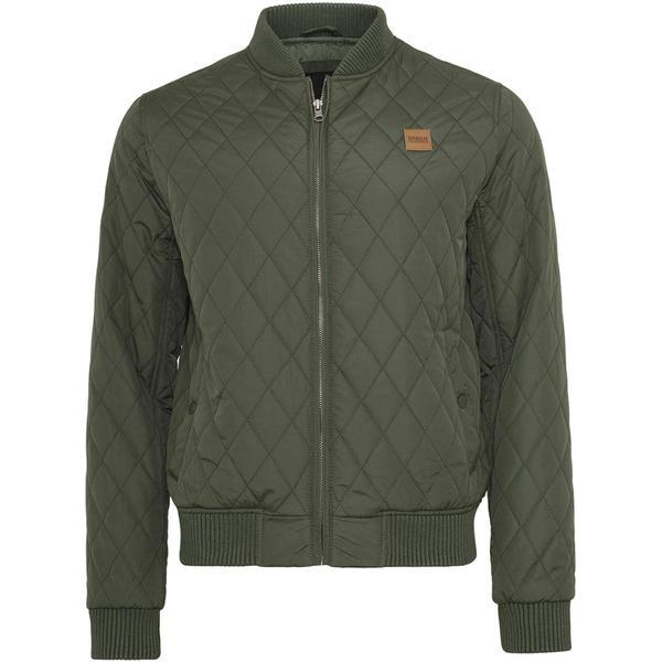 Urban Classics Diamond Quilt Jacket - Olive