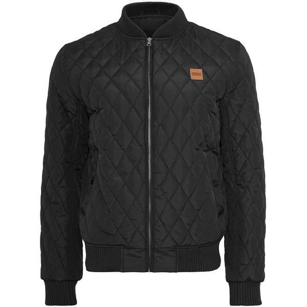 Urban Classics Diamond Quilt Jacket - Black