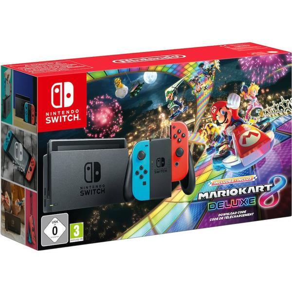Nintendo Switch - Red/Blue - Mario Kart 8 Deluxe